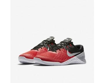 Chaussure Nike Metcon 3 Pour Homme Fitness Et Training Rouge Université/Noir/Blanc/Gris Loup_NO. 852928-600