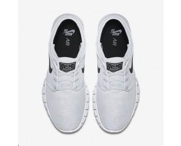 Chaussure Nike Sb Stefan Janoski Max Pour Homme Skateboard Blanc/Noir_NO. 631303-100