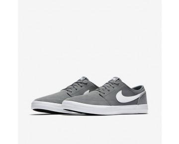 Chaussure Nike Sb Solarsoft Portmore Ii Pour Homme Skateboard Gris Froid/Noir/Blanc_NO. 880266-010