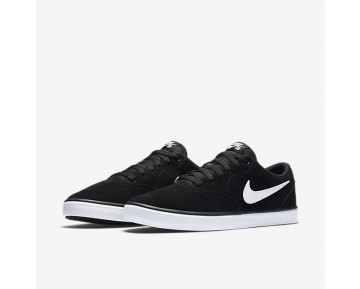 Chaussure Nike Sb Check Solarsoft Pour Homme Skateboard Noir/Blanc_NO. 843895-001