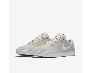 Chaussure Nike Sb Check Solarsoft Pour Homme Skateboard Beige Clair/Gomme Marron Clair/Blanc_NO. 843895-010