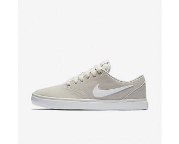 Chaussure Nike Sb Check Solarsoft Pour Homme Skateboard Beige Clair/Gomme Marron Clair/Blanc_NO. 843895-010