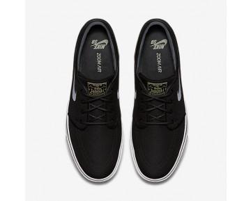 Chaussure Nike Sb Zoom Stefan Janoski Canvas Pour Homme Skateboard Noir/Gomme Marron Clair/Étoile D'Or Métallique/Blanc_NO. 615957-028