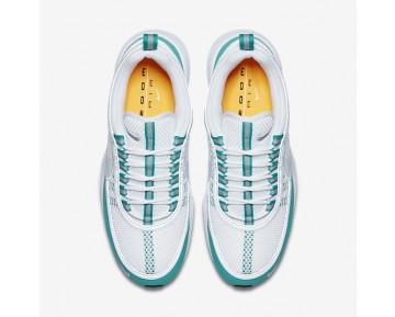 Chaussure Nike Air Zoom Spiridon Pour Homme Lifestyle Blanc/Vert Turbo/Orange Laser/Argent_NO. 849776-102