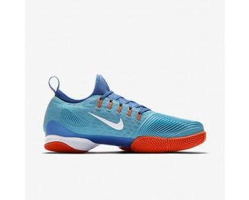 Chaussure Nike Court Air Zoom Ultra React Clay Pour Homme Tennis Bleu Polarisé/Bleu Moyen/Hyper Orange/Blanc_NO. 881091-400