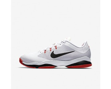 Chaussure Nike Court Air Zoom Ultra Pour Homme Tennis Blanc/Orange Max/Noir/Noir_NO. 845007-100