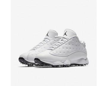 Chaussure Nike Air Jordan 13 Pour Homme Golf Blanc/Noir/Blanc/Noir_NO. 917719-102