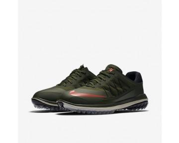 Chaussure Nike Lunar Control Vapor Pour Homme Golf Kaki Cargo/Noir/Beige Clair/Orange Max_NO. 849971-300