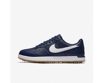 Chaussure Nike Lunar Force 1 G Pour Homme Golf Bleu Nuit Marine/Jaune Gomme/Blanc_NO. 818726-400