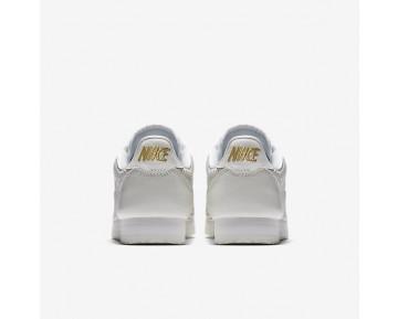 Chaussure Nike Cortez Classic Premium Qs Pour Femme Lifestyle Blanc Sommet/Or Métallique/Blanc Sommet_NO. AA1436-100