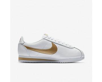 Chaussure Nike Classic Cortez Pour Femme Lifestyle Blanc/Or Métallique_NO. 807471-106