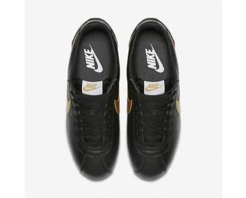 Chaussure Nike Classic Cortez Pour Femme Lifestyle Noir/Blanc/Or Métallique_NO. 807471-012