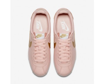 Chaussure Nike Classic Cortez Pour Femme Lifestyle Range Arctique/Blanc/Or Métallique_NO. 807471-800
