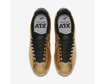Chaussure Nike Classic Cortez Leather Se Pour Femme Lifestyle Or Métallique/Blanc/Noir/Or Métallique_NO. 902854-700