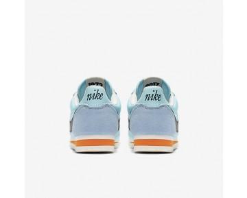 Chaussure Nike Classic Cortez Nylon Premium Pour Femme Lifestyle Bleu Calme/Voile/Orange Sécurité/Noir_NO. 882258-402