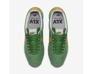Chaussure Nike Classic Cortez Nylon Premium Pour Femme Lifestyle Vert Classique/Voile/Jaune Ocre_NO. 882258-301