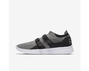 Chaussure Nike Air Sock Racer Ultra Flyknit Pour Homme Lifestyle Noir/Noir/Blanc/Gris Pâle_NO. 898022-004