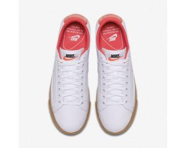 Chaussure Nike Blazer Premium Low Pour Femme Lifestyle Blanc/Orange Max/Gomme Marron Clair/Blanc_NO. 454471-102