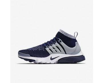 Chaussure Nike Air Presto Ultra Flyknit Pour Homme Lifestyle Bleu Marine Collège/Gris Loup/Blanc/Bleu Marine Collège_NO. 835570-402