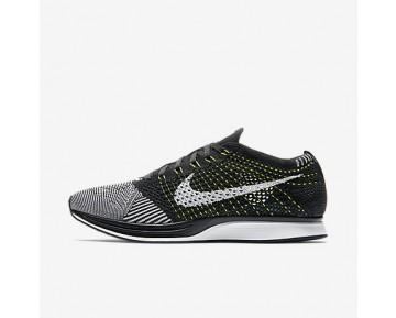 Chaussure Nike Flyknit Racer Pour Femme Lifestyle Noir/Blanc/Blanc_NO. 526628-011