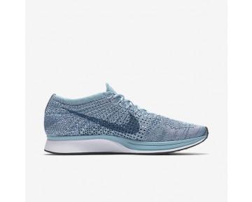 Chaussure Nike Flyknit Racer Pour Femme Lifestyle Bleu Mica/Blanc/Bleu Légion_NO. 526628-102