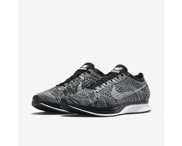 Chaussure Nike Flyknit Racer Pour Femme Lifestyle Noir/Blanc_NO. 526628-012