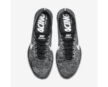 Chaussure Nike Flyknit Racer Pour Femme Lifestyle Noir/Blanc_NO. 526628-012