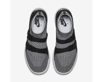 Chaussure Nike Air Sock Racer Ultra Flyknit Pour Femme Lifestyle Noir/Blanc/Blanc_NO. 896447-002