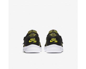 Chaussure Nike Air Sock Racer Ultra Flyknit Pour Femme Lifestyle Jaune Strike/Noir/Blanc_NO. 896447-003