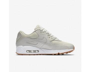 Chaussure Nike Air Max 90 Premium Pour Femme Lifestyle Beige Clair/Jaune Gomme/Blanc/Beige Clair_NO. 896497-001