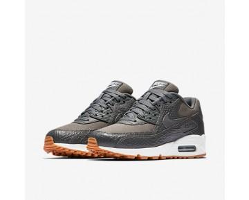 Chaussure Nike Air Max 90 Premium Pour Femme Lifestyle Gris Foncé/Jaune Gomme/Blanc/Gris Foncé_NO. 896497-003