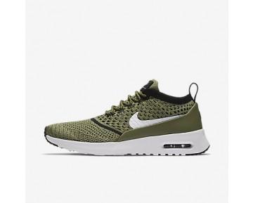 Chaussure Nike Air Max Thea Ultra Flyknit Pour Femme Lifestyle Vert Feuille De Palmier/Noir/Blanc_NO. 881175-300