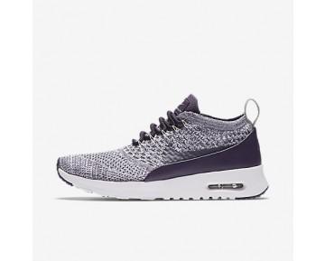 Chaussure Nike Air Max Thea Ultra Flyknit Pour Femme Lifestyle Raisin Sec Foncé/Blanc/Gris Pâle/Raisin Sec Foncé_NO. 881175-500