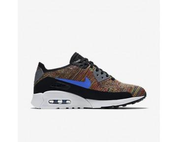 Chaussure Nike Air Max 90 Ultra 2.0 Flyknit Pour Femme Lifestyle Noir/Gris Froid/Blanc/Bleu Moyen_NO. 881109-001