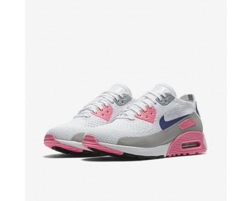 Chaussure Nike Air Max 90 Ultra 2.0 Flyknit Pour Femme Lifestyle Blanc/Rose Laser/Noir/Harmonie_NO. 881109-101