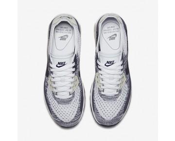 Chaussure Nike Air Max 90 Ultra 2.0 Flyknit Pour Femme Lifestyle Blanc/Violet Dynastie/Beige Clair/Raisin Sec Foncé_NO. 881109-102