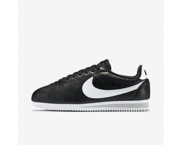 Chaussure Nike Classic Cortez Premium Pour Femme Lifestyle Noir/Gris Neutre/Blanc_NO. 807480-010