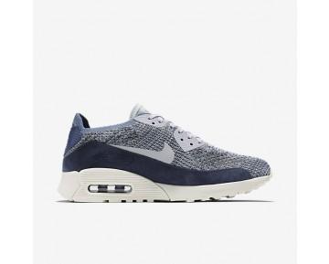 Chaussure Nike Air Max 90 Ultra 2.0 Flyknit Pncl Pour Femme Lifestyle Brouillard D'Océan/Platine Pur_NO. 889694-400