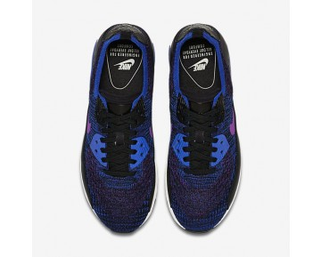 Chaussure Nike Air Max 90 Ultra 2.0 Flyknit Pncl Pour Femme Lifestyle Bleu Coureur/Hyper Violet_NO. 889694-401