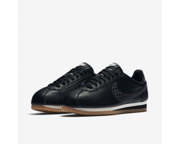 Chaussure Nike Classic Cortez Leather Lux Pour Femme Lifestyle Noir/Voile/Gomme Marron/Noir_NO. 861660-004