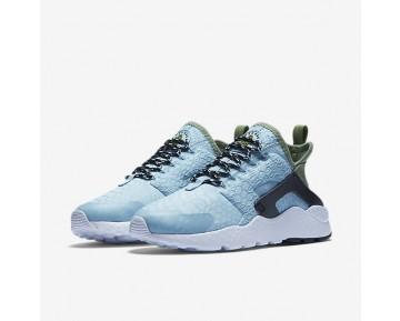 Chaussure Nike Air Huarache Ultra Se Pour Femme Lifestyle Bleu Mica/Vert Légion/Noir/Bleu Mica_NO. 859516-401