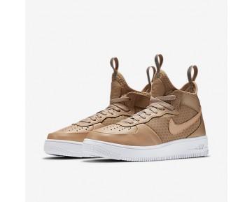 Chaussure Nike Air Force 1 Ultraforce Mid Pour Femme Lifestyle Brun Vachette/Blanc/Brun Vachette_NO. 864025-200