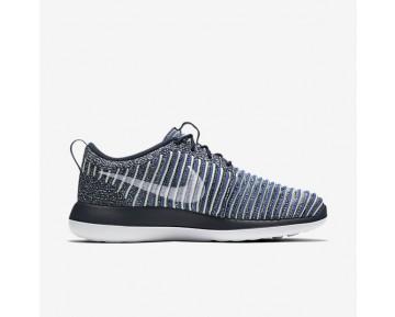 Chaussure Nike Roshe Two Flyknit Pour Femme Lifestyle Bleu Marine Collège/Bleu Binaire/Vert Vapeur/Blanc_NO. 844929-401