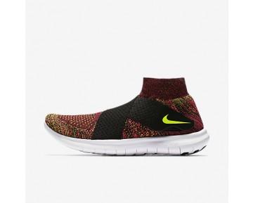 Chaussure Nike Free Rn Motion Flyknit 2017 Pour Femme Running Noir/Rose Coureur/Blanc/Volt_NO. 880846-004