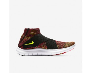 Chaussure Nike Free Rn Motion Flyknit 2017 Pour Femme Running Noir/Rose Coureur/Blanc/Volt_NO. 880846-004