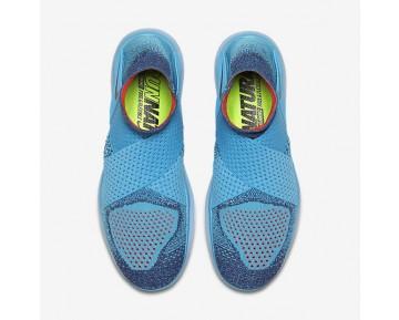 Chaussure Nike Free Rn Motion Flyknit 2017 Pour Femme Running Bleu Chlorine/Violet Poudre Sombre/Rose Coureur/Noir_NO. 880846-400