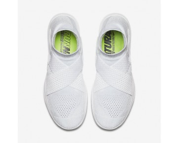 Chaussure Nike Free Rn Motion Flyknit 2017 Pour Femme Running Blanc/Platine Pur/Volt/Gris Loup_NO. 880846-100