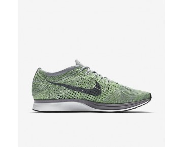 Chaussure Nike Flyknit Racer Pour Femme Running Vert Ombre/Gris Loup/Frappé/Gris Froid_NO. 526628-103