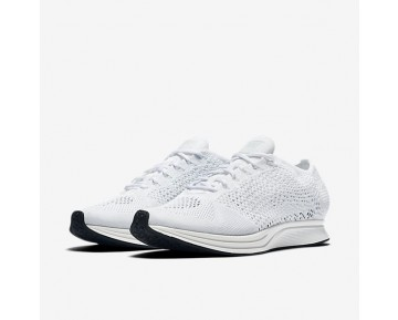 Chaussure Nike Flyknit Racer Pour Femme Running Blanc/Voile/Platine Pur/Blanc_NO. 526628-100