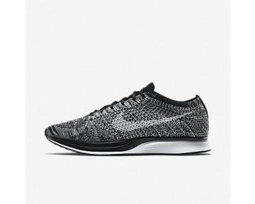 Chaussure Nike Flyknit Racer Pour Femme Running Noir/Blanc_NO. 526628-012